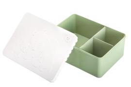 Blafre Lunchtrommel rechthoek IJsberen - Wit/Licht Groen