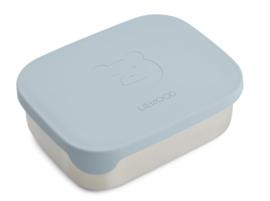 Liewood Lunchtrommel RVS Arthur Lunchbox - Mr Bear Sea Blue