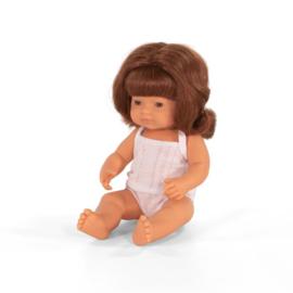 Miniland Pop Europees Roodharig Meisje - Girl (38 cm)