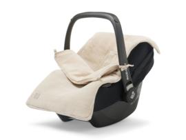 Jollein Voetenzak voor Autostoel en Kinderwagen Basic Knit - Nougat