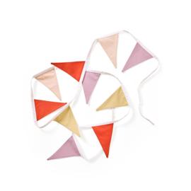Kids Concept Vlaggen Slinger - Geel / Roze