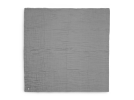 Jollein Deken Hydrofiel Wrinkled - Storm Grey (120 x 120 cm)