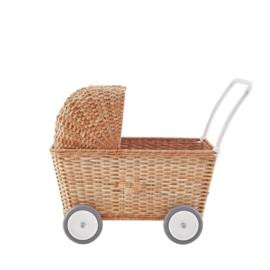 Olli Ella Strolley - Naturel (poppenwagen en winkelwagen)