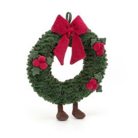 Jellycat Kerst Knuffel Kerstkrans Little - Amuseable Wreath (27 cm)
