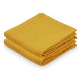 CamCam Hydrofiele Doek Muslin - Mustard Oker Geel (set van 2)