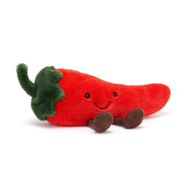 Jellycat Amuseable Chilli Small - Knuffel Chilipeper (21 cm)