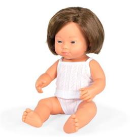 Miniland Pop Europees Meisje met Syndroom van Down - Girl (38 cm)