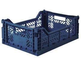 AyKasa Folding Crate Midi Box - Navy