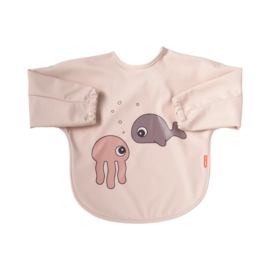 Done by Deer Slab met mouwen Sea Friends - Roze (6-18m)