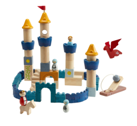 Plantoys Orchard Collectie Houten Kasteel Blokken  + 3jr