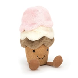 Jellycat Amuseable Ice Cream Large - Knuffel IJsje (29 cm)