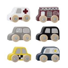 Bloomingville Houten Mini Auto's Set (6 stuks)