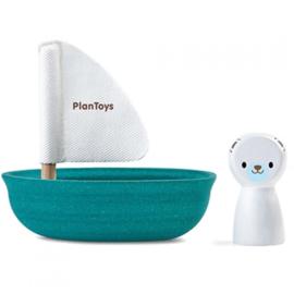 Plantoys Houten Badspeeltje - Zeilboot IJsbeer