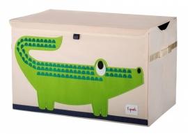 3 Sprouts Speelgoedkist - Krokodil