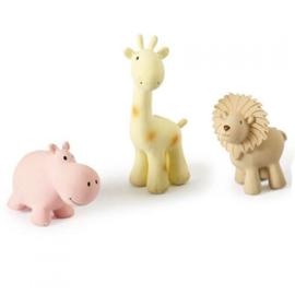 Tikiri Bijt- en Badspeelgoed met Rammelaar - Giraf