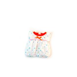 Miniland Pyjama wit met stippen - (21 cm)