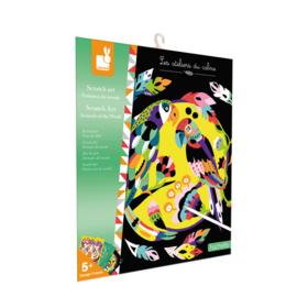 Janod Scratch Art Kraskaarten - Dieren van de Wereld (+5 jaar)