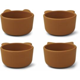 Liewood Malene Silicone Mini Bowl Kommetjes - Mustard (set van 4)