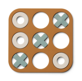 Liewood Tic Tac Toe Kelsey Spelletje - Golden Caramel Multi Mix