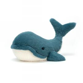 Jellycat Scrumptious Wally Whale Medium - Knuffel Walvis (35 cm)