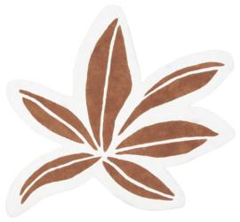 Lilipinso Utan Vloerkleed - Tropical Leaf Terracotta (140 x 120 cm)