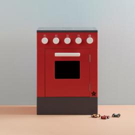 Kids Concept Houten Fornuis met Oven - Rood