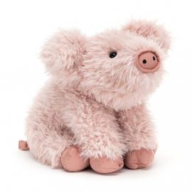 Jellycat Curvie Pig - Knuffel Varken (24 cm)