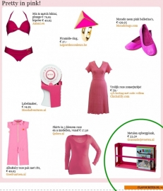 Publicatie - Flavourites nieuwsbrief Pretty in Pink - 08/05/2013
