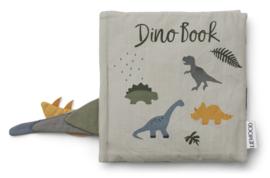 Liewood Dennis Dino Book Baby Knisperboekje - Dove Blue Mix