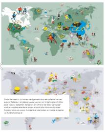 Uitgeverij Fontaine Ontdek de Wereld in 22 kaarten - Laure Flavigny