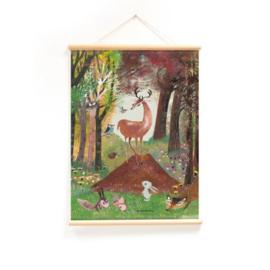 Schoolplaat Fiep Westendorp - In het Bos (dubbelzijdig)