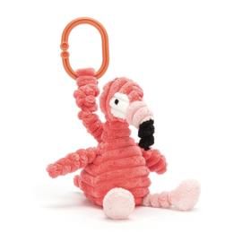 Jellycat Cordy Roy Baby Flamingo Jitter - Vibrerende Babyspeeltje Baby Flamingo
