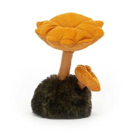 Jellycat Wild Nature Mushroom Chanterelle - Knuffel Paddenstoel (16 cm)