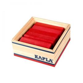 KAPLA Kist 40 Bouwplankjes - Rood