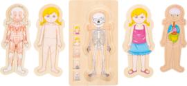 Small Foot Educate Puzzel Anatomie - Meisje + 4jr