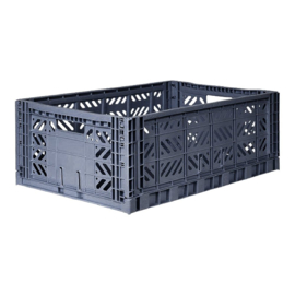 AyKasa Folding Crate Maxi Box - Cobalt Blue