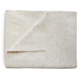 Mushie Deken Knitted Confetti Baby Blanket - Ivory
