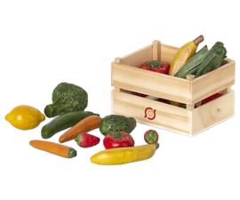 Maileg Poppenhuis Groente en Fruit in Kratje