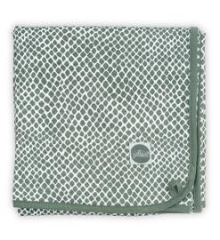Jollein Deken Jersey Snake - Ash Green (75 x 100 cm)