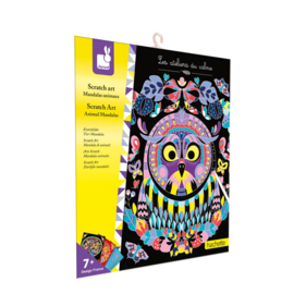 Janod Scratch Art Kraskaarten - Dieren Mandala (+7 jaar)