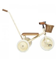 Banwood Trike Driewieler - Cream (incl. rieten mandje en duwstang)