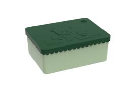 Blafre Lunchtrommel rechthoek IJsberen - Donker groen/licht groen
