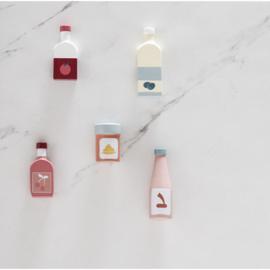 Kids Concept Houten Flessen Mix - Set van 5