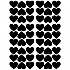 Pom Muurstickers - Hartjes (zwart)