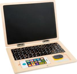 Small Foot Houten Laptop met Magnetisch Krijtbord + 6jr