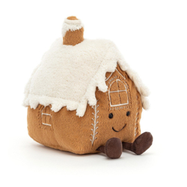 Jellycat Kerst Knuffel Peperkoeken Huisje - Amuseable Gingerbread House (20 cm)