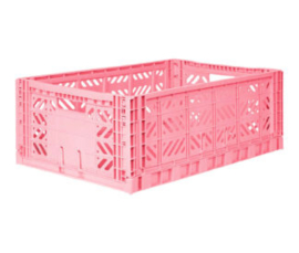 AyKasa Folding Crate Maxi Box - Pink