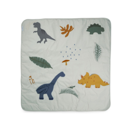 Liewood Glenn Activity Blanket Speelkleed - Dino Dove Blue Mix