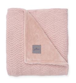 Jollein Ledikant Deken River Knit - Pale Pink/Coral Fleece (100x150cm)