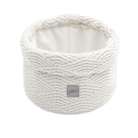 Jollein Opbergmandje River Knit - Cream White